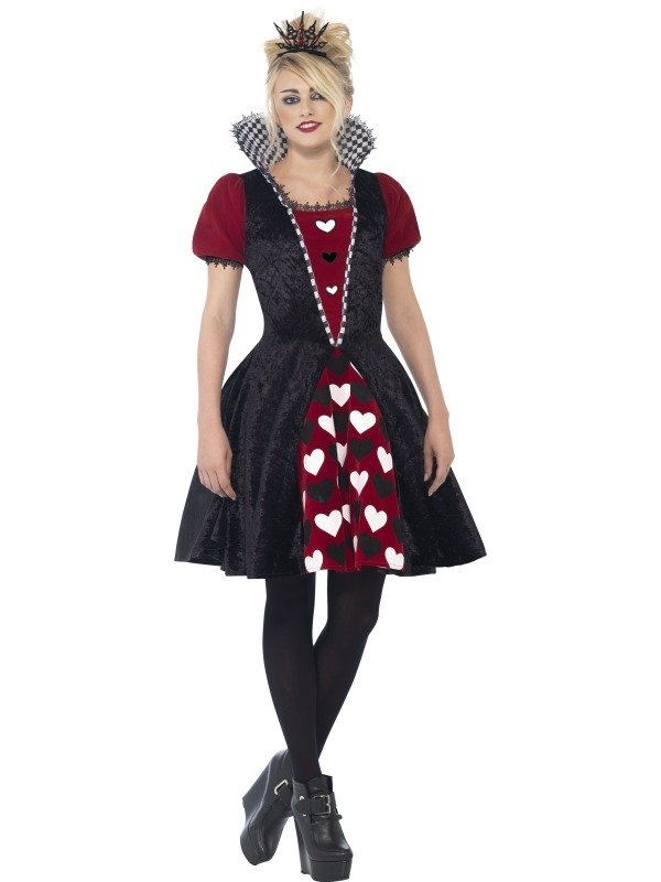 Deluxe Dark Red Queen Halloween Kostuum