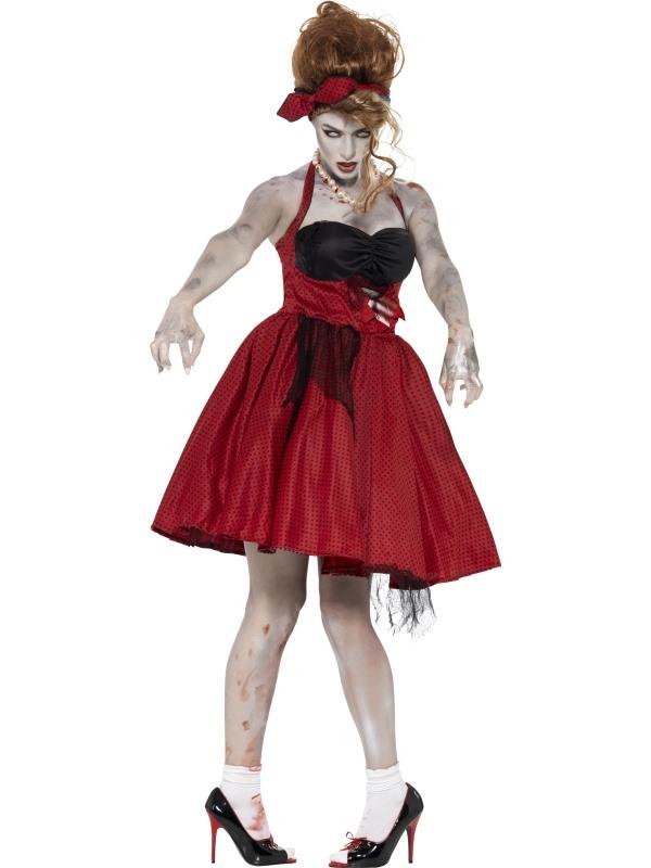 Zombie 50's Rockabilly Halloween Kostuum