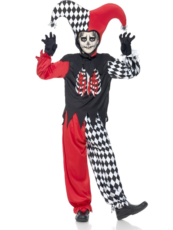 Blood Curdling Jester Halloween Kostuum