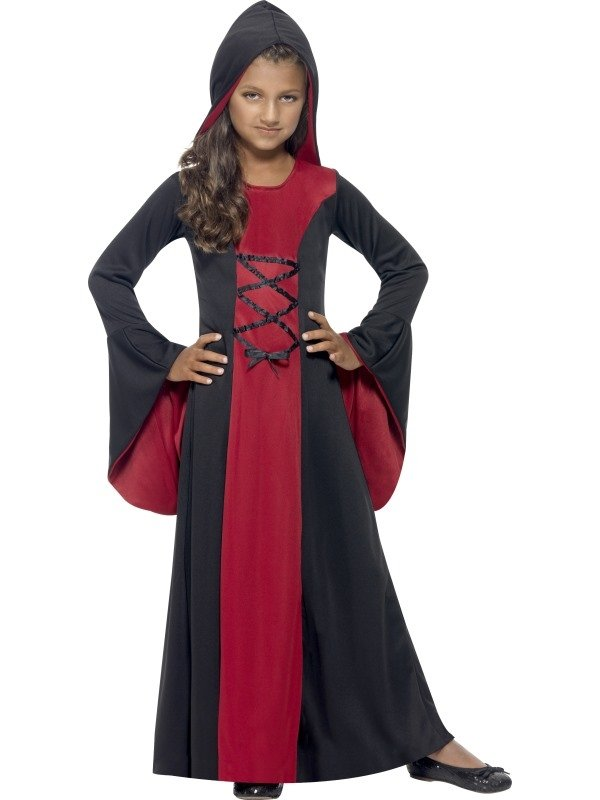 Hooded Vamp Robe Halloween Kostuum