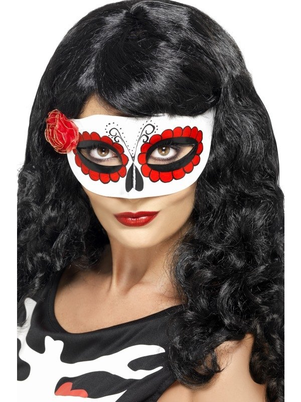 Day Of The Dead Oogmasker Wit/Rood