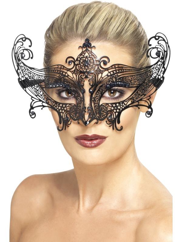 Midnight Baroque Masquerade Oogmasker