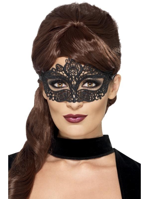 Zwart Filigree Oogmasker