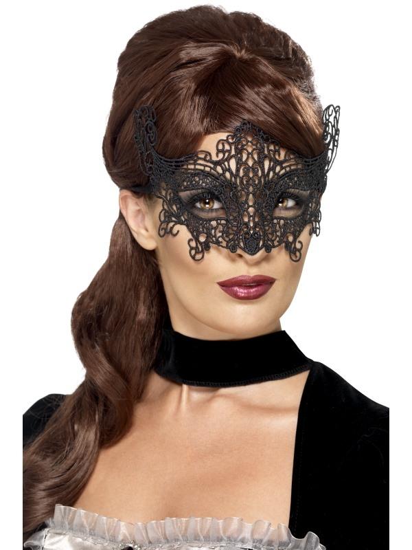 Zwart Filigree Swirl Oogmasker