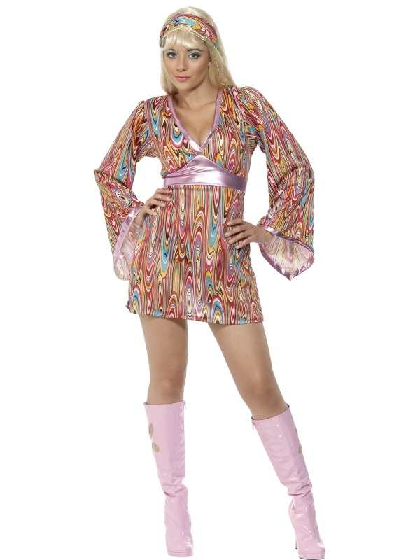 Hippie Hottie Dames Verkleedkleding