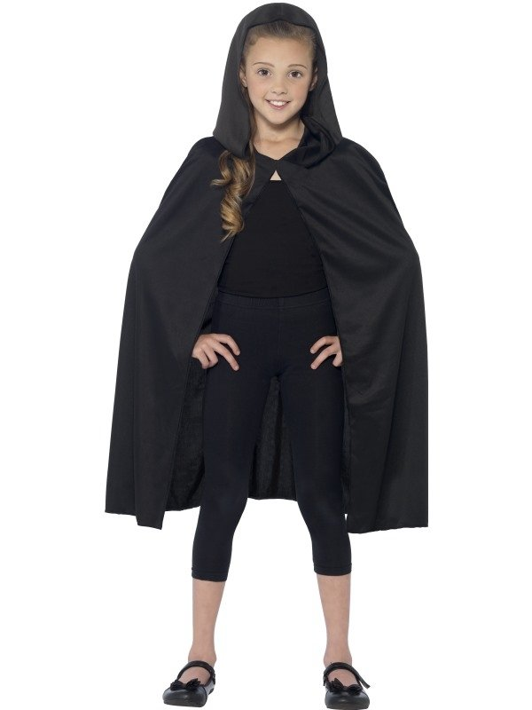 Zwarte Hooded Halloween Cape