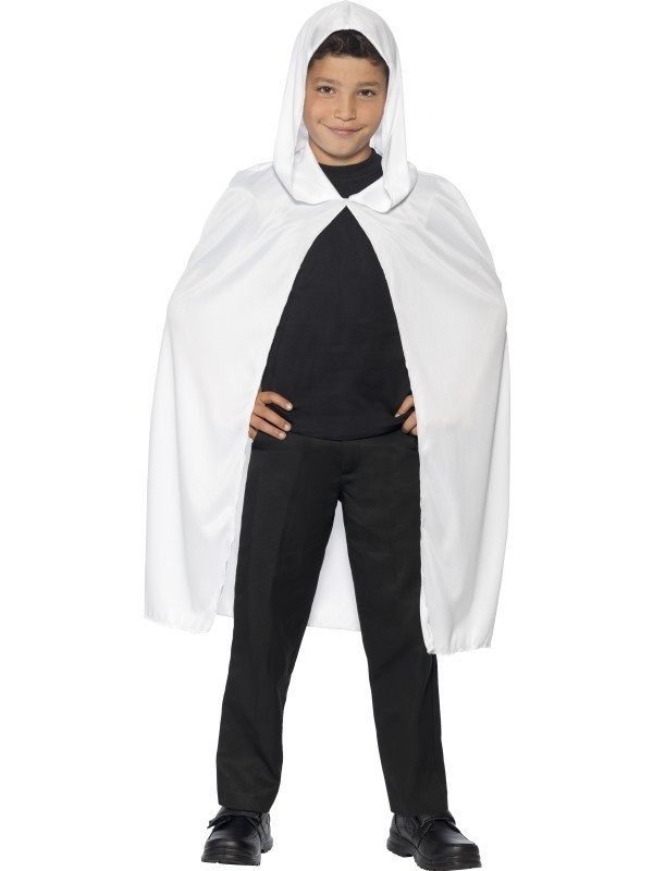 Witte Hooded Halloween Cape