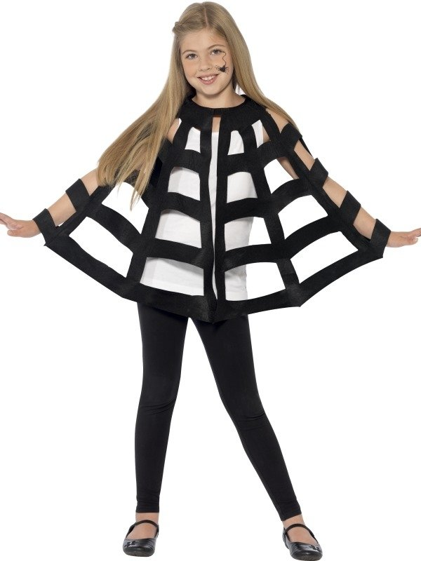 Spinnenweb Halloween Cape
