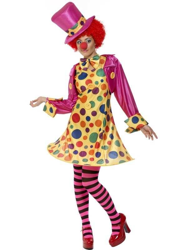 Polka Dot Clown Dames Kostuum