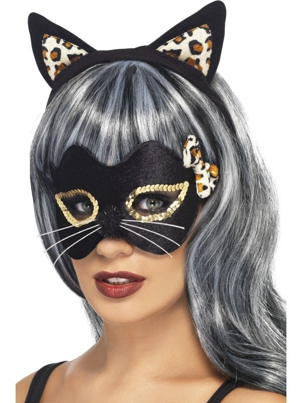 Midnight Kitty Oortjes en Oogmasker