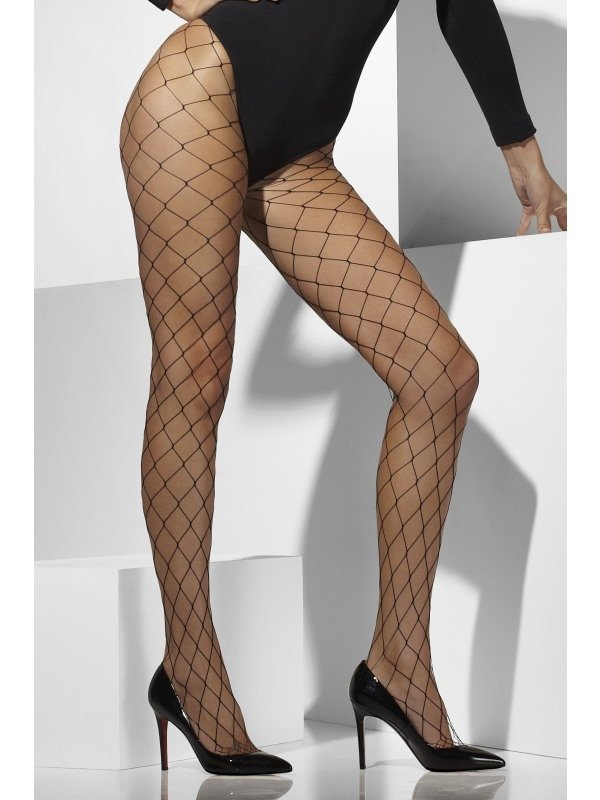Zwarte Diamond Net Panty