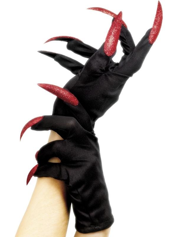 Halloween Handschoenen met Glitter Nagels