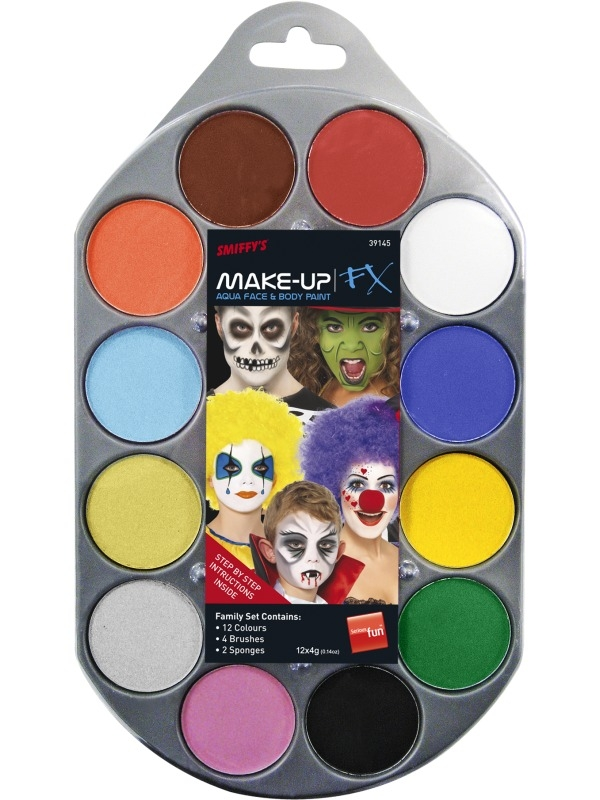Make-Up FX Palet 12 Kleuren Schmink Op Waterbasis