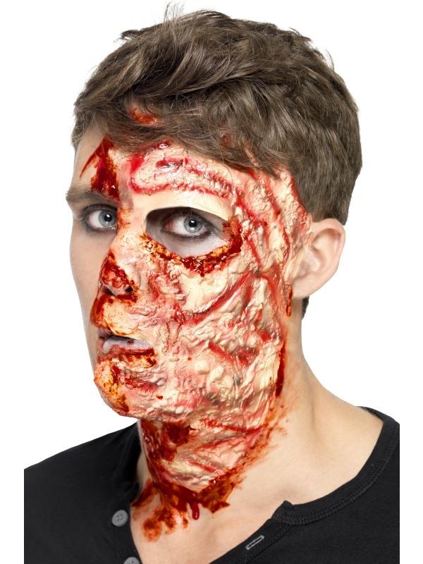 Verbrand Gezicht Latex Masker