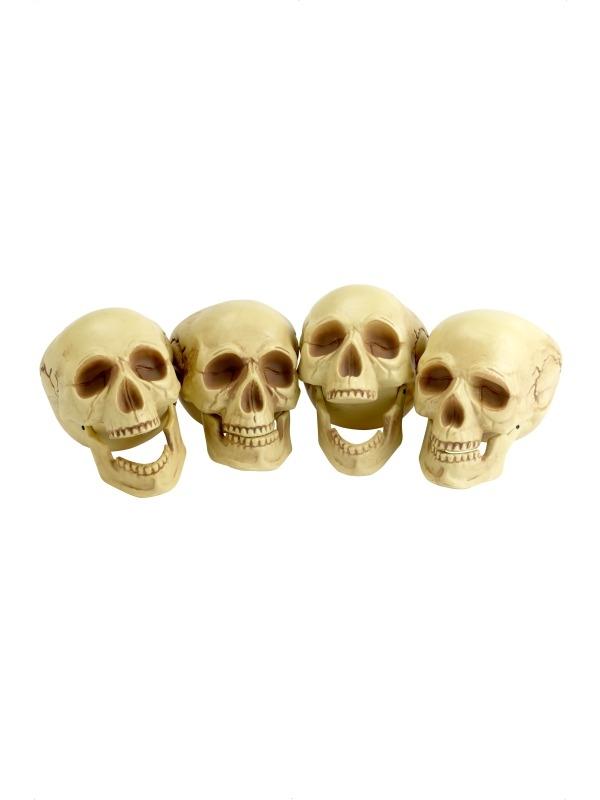Schedels Halloween Versiering 4 Stuks