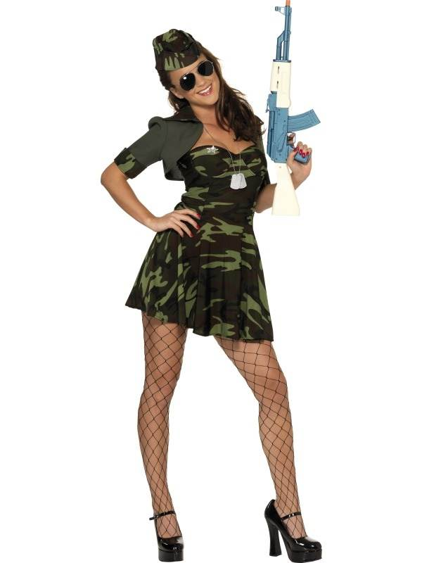 Leger Army Babe Dames Kostuum