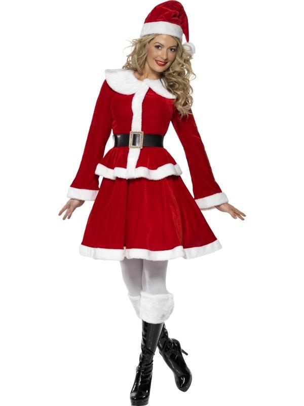 Miss Santa Kostuum met Handwarmer