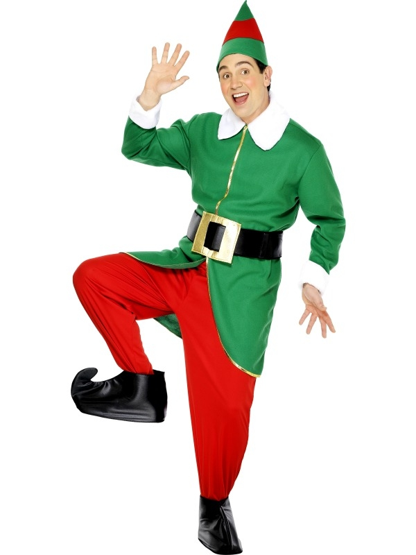 Groen Elf Heren Kostuum