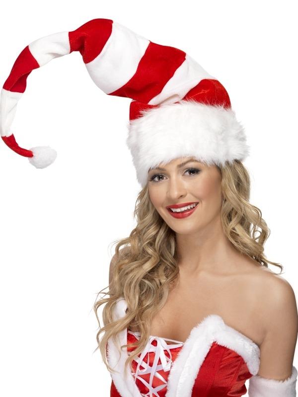 Lange Gestreepte Kerstmuts