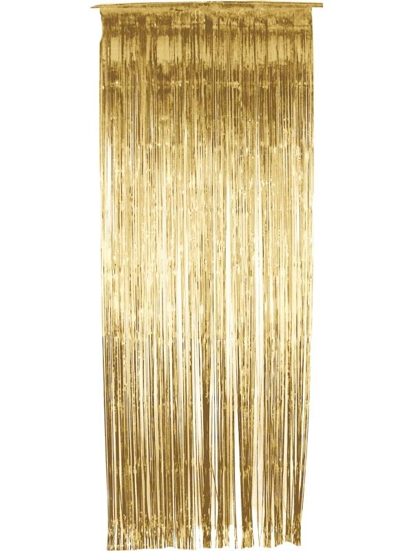 Gouden Glitter Gordijn
