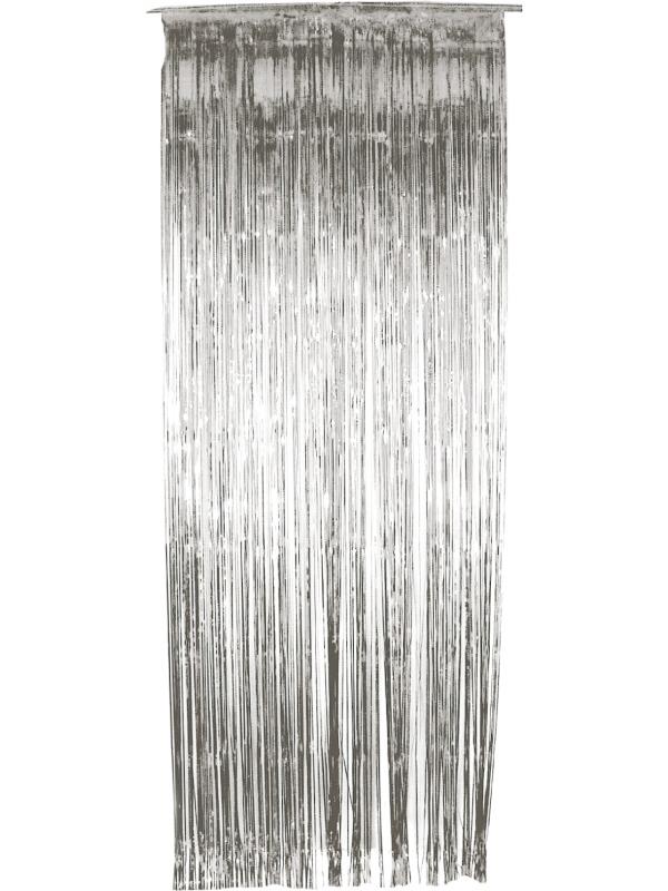 Zilveren Glitter Gordijn