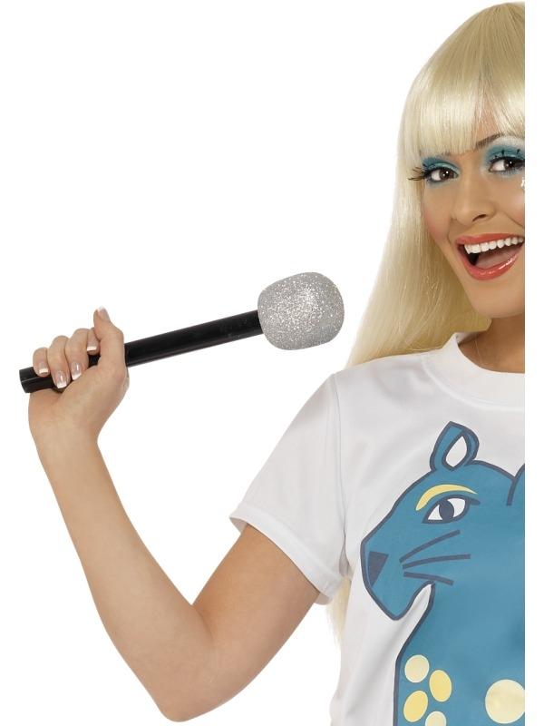 Zilveren Glitter Microfoon