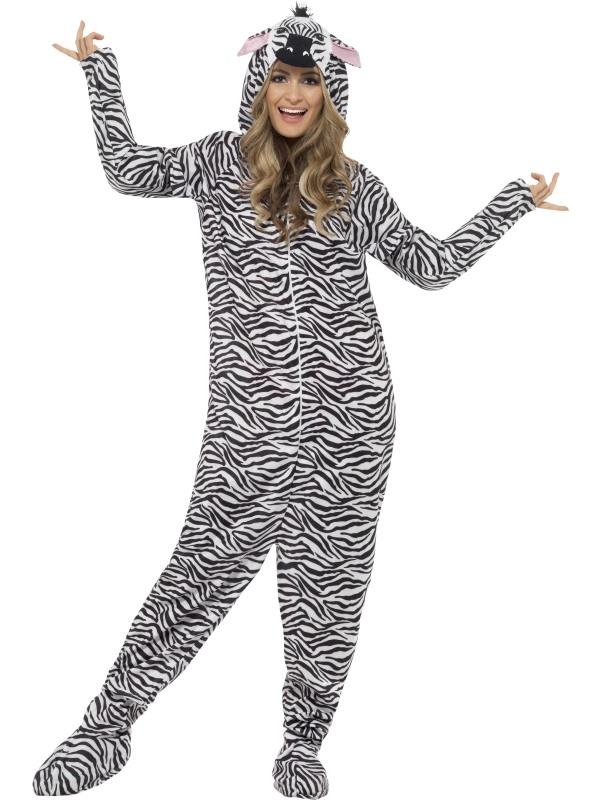 Zebra Onesie Kostuum