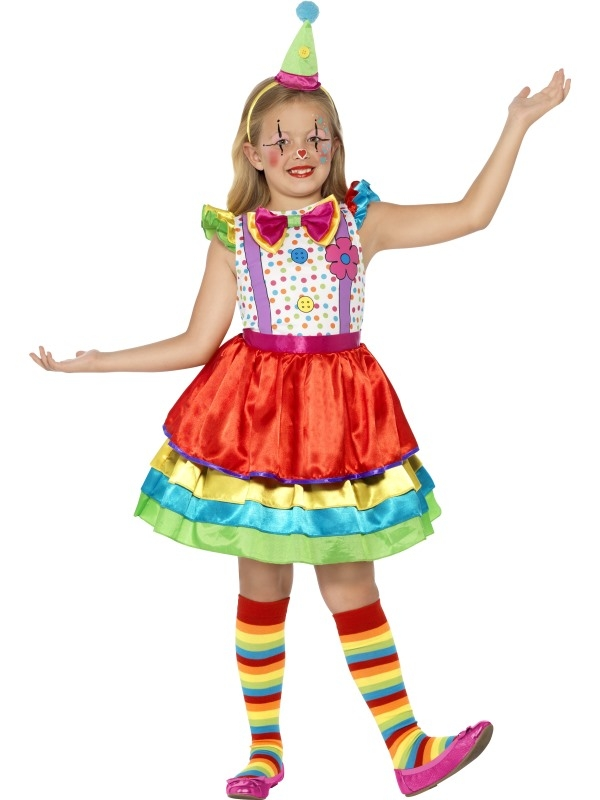 Deluxe Clown Girl Kinder Kostuum