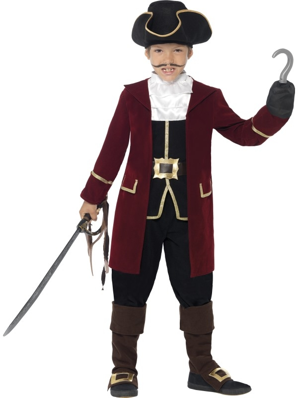 Deluxe Pirate Captain Kinder Kostuum