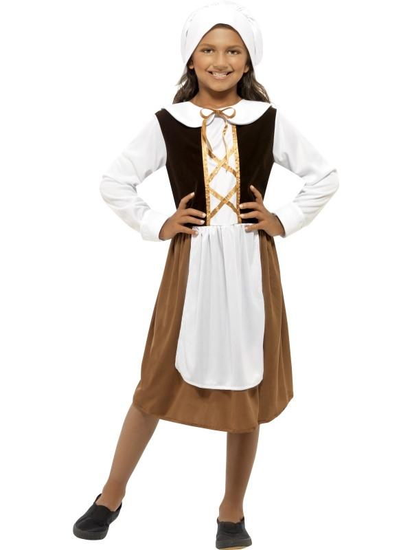 Tudor Girl Kinder Kostuum