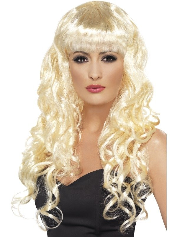 Blonde Lange Krullende Sirene Pruik