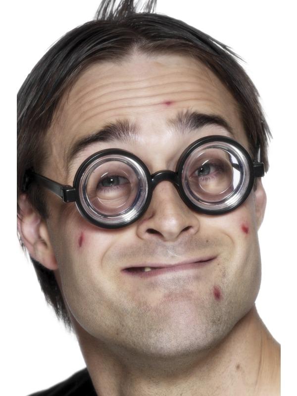Nerd Bril met dikke glazen