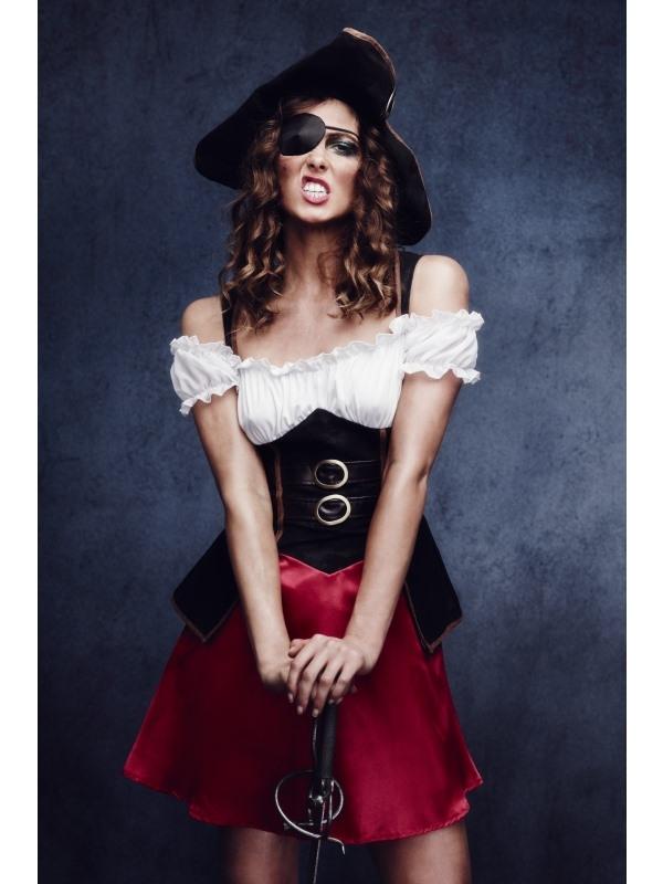 Fever Piraat Dames Kostuum met Hoed
