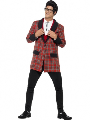 Teddy Boy Fifties Jas Rood