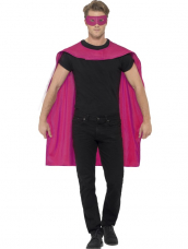 Roze Cape met Oogmasker Superheld