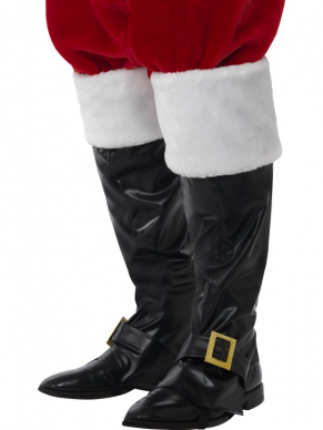 Kerstman Boot Covers met Gesp