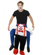 Op de rug van de clown kostuum