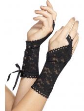 Mooie Zwarte Kanten Handschoenen