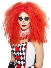 Rode Lange Clown Pruik
