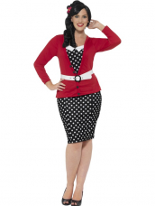 Curves 50's Pin Up Plus size Kostuum