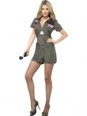 Top Gun Aviator Kostuum Groen
