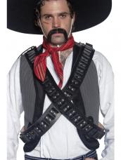 Authentic Western Leather Bandolier Bullet Belt
