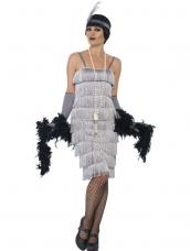 Zilveren Flapper half Lang Kostuum 3-delig