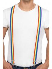 Regenboog gekleurde bretels