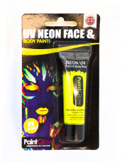 Neon Gele UV Face & Body Paint Make Up