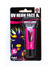 Roze UV Face & Body Paint Make Up