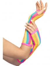 Gekleurde Lange Net Handschoenen