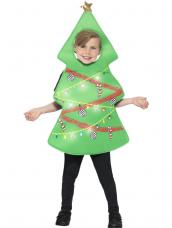 Kerstboom Kinder Kostuum met Lichtjes