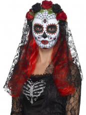 Day of the Dead Senorita Masker Met Sluier