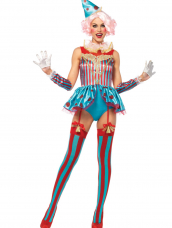 Blije Sexy Circus Clown Kostuum